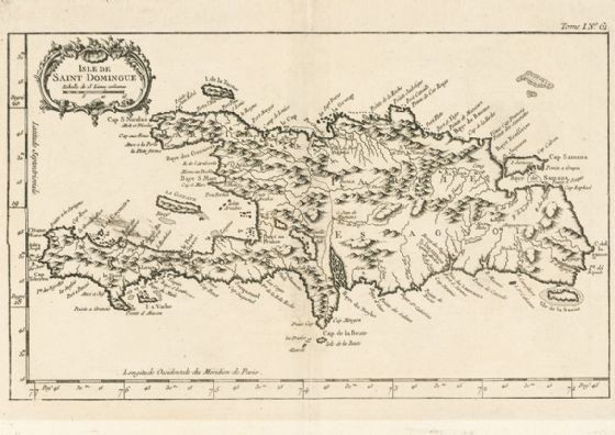 Map of Hispaniola Haiti Dominican Republic 1764. Print/Poster (5132)
